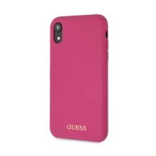 Kryt GUESS Silicone pro Apple iPhone Xr - silikonový - tmavě růžový