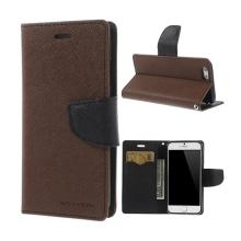 Pouzdro Mercury pro Apple iPhone 6 / 6S - stojánek a prostor pro platební karty - hnědo-černé