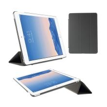 Pouzdro / obal pro Apple iPad Air 2 - funkce uspání a probuzení / stojánek / výřez pro logo - šedé