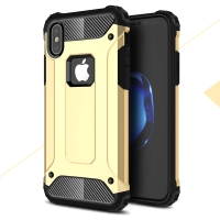 Kryt pro Apple iPhone X - odolný - plastový / gumový - zlatý