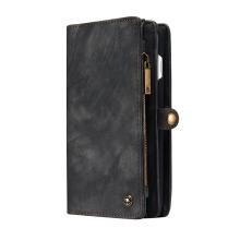 Pouzdro / peněženka CASEME pro Apple iPhone 7 Plus / 8 Plus - umělá kůže - tmavě hnědé