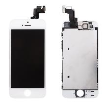 Osazená přední čast (LCD panel, touch screen digitizér atd.) pro Apple iPhone 5S / SE - bílý - kvalita A+