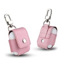 Pouzdro / obal pro Apple AirPods - s karabinou - růžové
