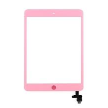 Dotykové sklo (touch screen digi) + IC konektor a flex s Home Buttonem pro Apple iPad mini / mini 2 (Retina) - růžové