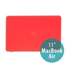 Tenký ochranný plastový obal pro Apple MacBook Air 11.6 - matný - červený