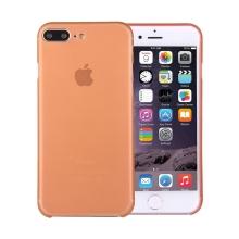 Kryt / obal pro Apple iPhone 7 Plus / 8 Plus chrana čočky - plastový / tenký - oranžový