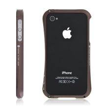 Kvalitní hliníkový bumper Cleave pro Apple iPhone 4S - coffee