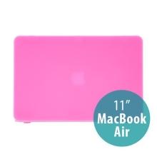 Tenký ochranný plastový obal pro Apple MacBook Air 11.6 - matný - růžový