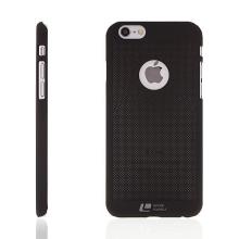 Plastový kryt LOOPEE pro Apple iPhone 6 / 6S s výřezem pro logo - děrovaný - černý
