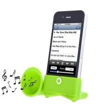 Přenosný stojánek s reproduktorem pro Apple iPhone - zelený