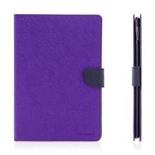 Pouzdro MERCURY Fancy Diary pro Apple iPad Pro 9,7 - stojánek a prostor na doklady - fialové / modré