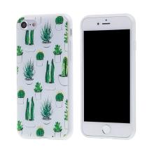 Kryt pro Apple iPhone 7 / 8 - gumový - kaktusy a sukulenty
