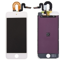 LCD panel + dotykové sklo (touch screen digitizér) pro Apple iPod touch 5 / 6.gen. - bílý - kvalita A+