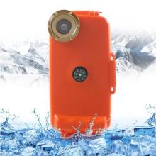 Vodotěsné pouzdro s odolností do 40m hloubky (IPX8) a kompasem pro Apple iPhone 6 / 6S - oranžové