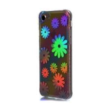Kryt pro Apple iPhone 7 / 8 - gumový / plastový - duhový / stříbrné květiny