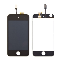 Náhradní LCD panel včetně dotykového skla (digitizéru) pro Apple iPod 4.gen. - černý rámeček