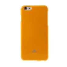 Kryt Mercury Goospery pro Apple iPhone 6 Plus / 6S Plus gumový - oranžový s třpytivými prvky