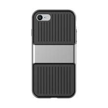 Kryt Baseus pro Apple iPhone 7 / 8 plastový šedý rámeček - gumový černý