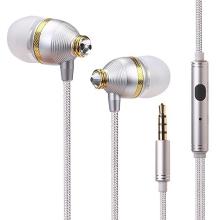 Sluchátka BENWIS + ovládání a mikrofon pro Apple a další zařízení - s kamínky Swarovski - stříbrná