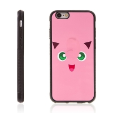 Kryt pro Apple iPhone 6 / 6S - kovový povrch - gumový - Pokemon Go / Jigglypuff