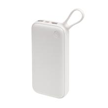 Externí baterie / power bank BASEUS - 20000 mAh - USB-C + 2x USB (2,4A) - bílá