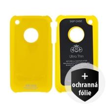 Ochranný plastový kryt SGP Ultra Thin pro Apple iPhone 3G / 3GS - žlutý + ochranná fólie