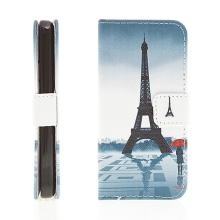 Pouzdro pro Apple iPhone 5C - integrovaný stojánek a prostor na doklady - Eiffelovka