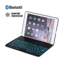Mobilní klávesnice bluetooth 3.0 + kryt pro Apple iPad Air 2 - barevně podsvícená - černá