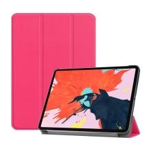 """Pouzdro / kryt pro Apple iPad Pro 12,9"""" (2018) - funkce chytrého uspání + stojánek - umělá kůže - růžové"""