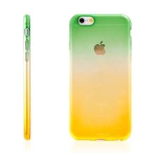 Kryt pro Apple iPhone 6 Plus / 6S Plus gumový tenký - žlutý / zelený