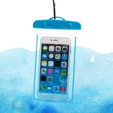 Pouzdro pro Apple iPhone - voděodolné - plast / guma - průhledné / modré