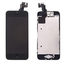 Kompletně osazená přední čast (LCD panel, touch screen digitizér atd.) pro Apple iPhone 5C - černý - kvalita A