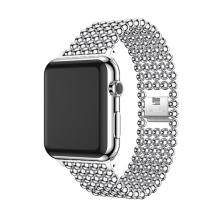 Řemínek pro Apple Watch 40mm Series 4 / 38mm 1 2 3  - kuličky - zinkový - stříbrný
