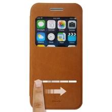 Ochranné pouzdro BASEUS se stojánkem a průhledným prvkem / výřezem na displej pro Apple iPhone 6 / 6S - hnědé
