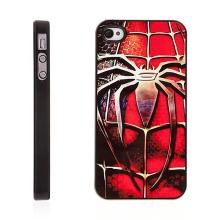 Plastový kryt s hliníkovým povrchem pro Apple iPhone 4 / 4S - Spiderman