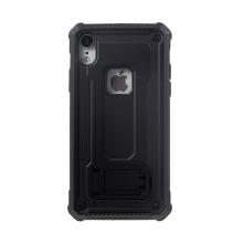 Kryt pro Apple iPhone Xr - odolný - plastový / gumový - se stojánkem - černý