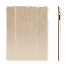 Pouzdro + Smart Cover pro Apple iPad 2. / 3. / 4.gen. - champagne průhledné - elegantní textura