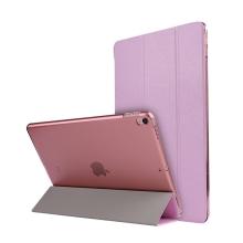 Pouzdro / kryt pro Apple iPad Pro 10,5 - funkce chytrého uspání + stojánek - elegantní textura - růžové
