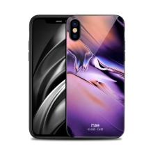 Kryt NXE pro Apple iPhone X / Xs - gumový / skleněný - barevný přechod - fialový