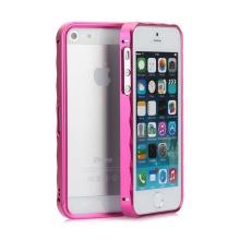Rámeček / bumper pro Apple iPhone 5 / 5S / SE hliníkový - růžový