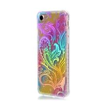 Kryt pro Apple iPhone 7 / 8 - gumový / plastový - duhový / stříbrné ornamenty