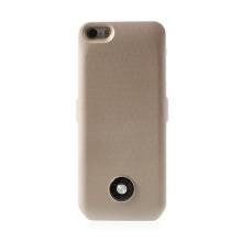Externí baterie s plastovým krytem pro Apple iPhone 5 / 5S / SE - 3000 mAh - zlatá