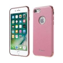 Kryt IPAKY pro Apple iPhone 7 / 8 - výřez pro logo / gumový - růžový