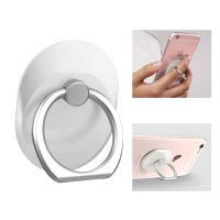 Stojánek / prsten na zadní stranu Apple iPhone - kovový - bílý