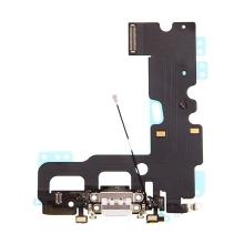 Napájecí a datový konektor s flex kabelem + GSM anténa + mikrofony pro Apple iPhone 7 - bílý - kvalita A+