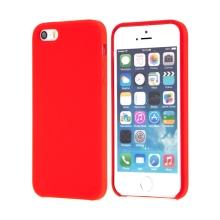 Kryt pro Apple iPhone 5 / 5S / SE - gumový - příjemný na dotek - červený