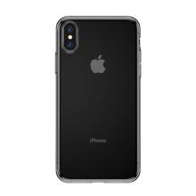 Kryt BASEUS pro Apple iPhone X - ultratenký - gumový - průhledný / černý