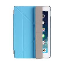 Pouzdro / kryt pro Apple iPad 9,7 (2017-2018) - odnímatelný Smart Cover - stojánek - plastové - modré