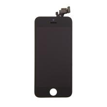Kompletně osazená přední čast (LCD panel, touch screen digitizér atd.) pro Apple iPhone 5 - černý - kvalita A+