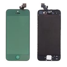 LCD panel + dotykové sklo (touch screen digitizér) + Home Button pro Apple iPhone 5 - pogalvanizovaný povrch - zelený